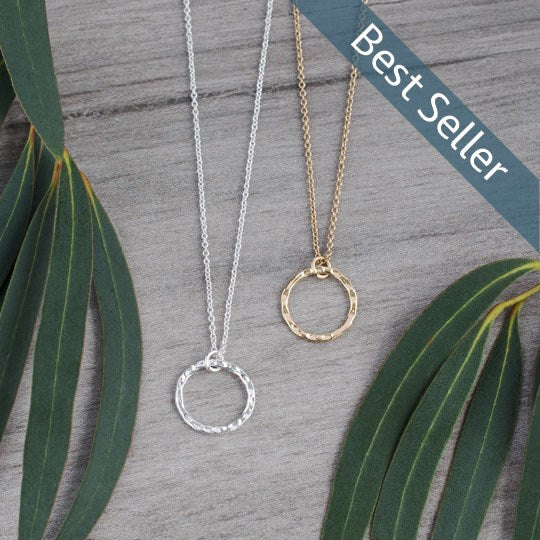 Simple Circle Necklace - Rose Gold