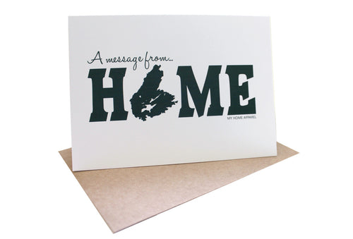 Cape Breton HOME Greeting Card