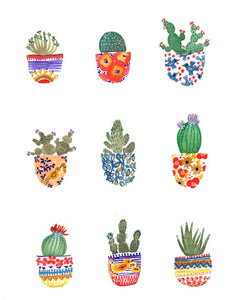 Cactus Print by Sarah Duggan My Home Mercantile