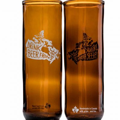 Drink Beer from here Canada Rebeer glass
