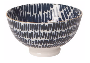 Small Bowl with Blue Dashes