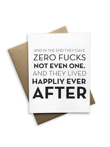 Zero Fucks Card