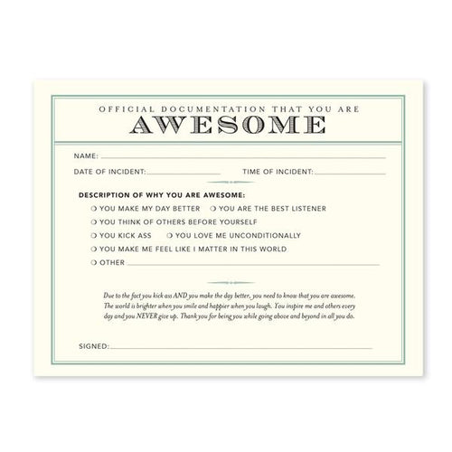 Awesome Receipts - Set of 8
