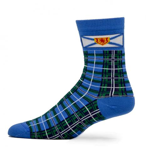 Nova Scotia Tartan with Flag Sock