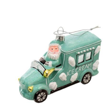 Santa's Ice Cream Truck Ornament