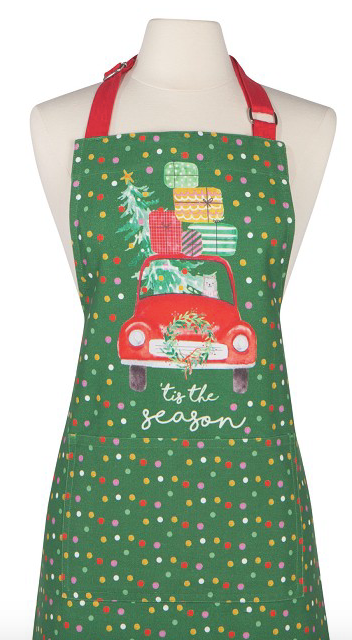 Winter Wheels Chefs Apron