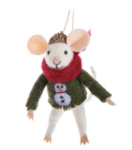 Mouse in Sweater Ornament