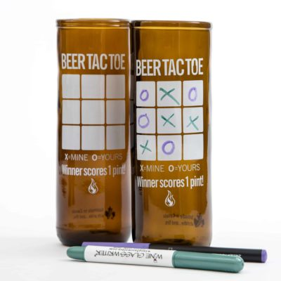 Beer Tic Tac Toe Rebeer Glass
