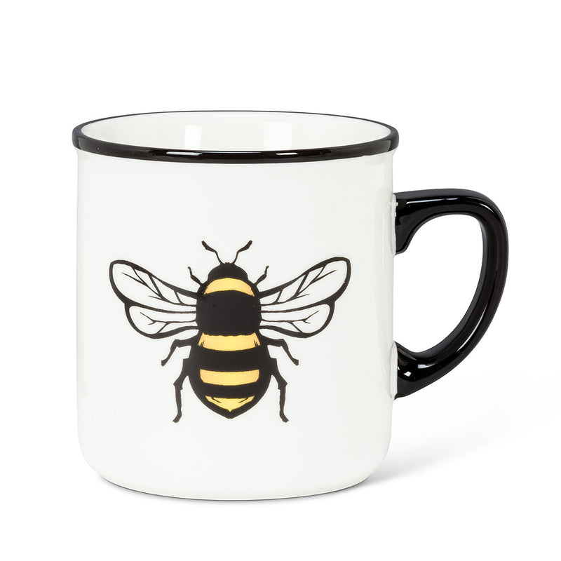 Yellow Bee Rimmed Mug
