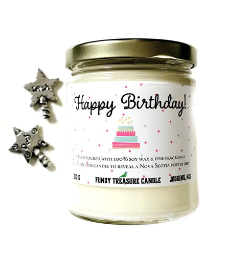 Birthday Candle with Pewter Coin