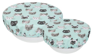 Cat's Meow Bowl Covers - Set of 2