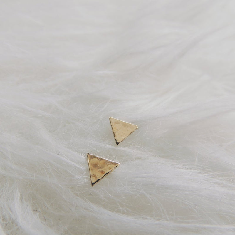 Hammered Triangle Studs