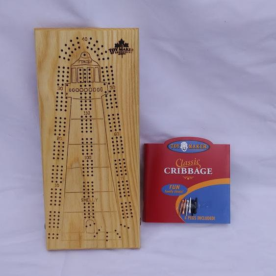 Wooden Lighthouse Cribbage Board