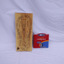Wooden Lobster Cribbage Board
