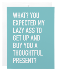Lazy Ass Gift Card Holder Card