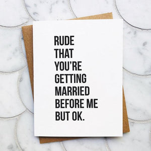Rude But OK Wedding Card