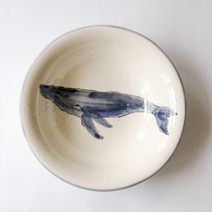 Large Round Humpback Whale Bowl