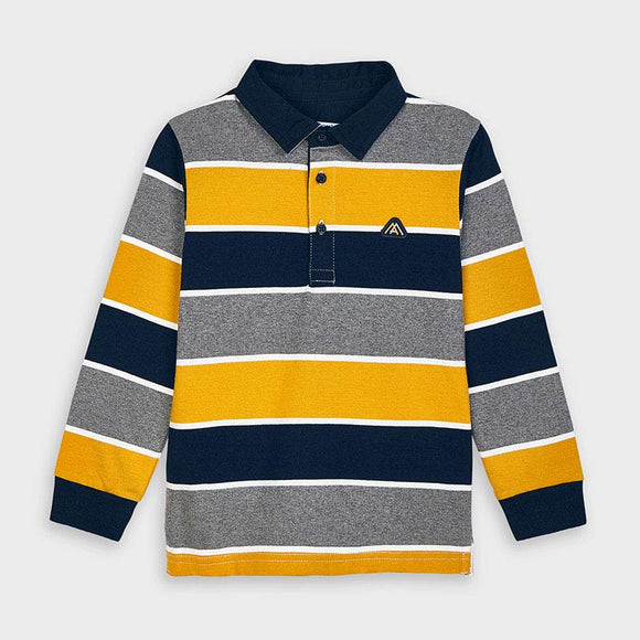 Long sleeved striped polo shirt for boy (mayoral)