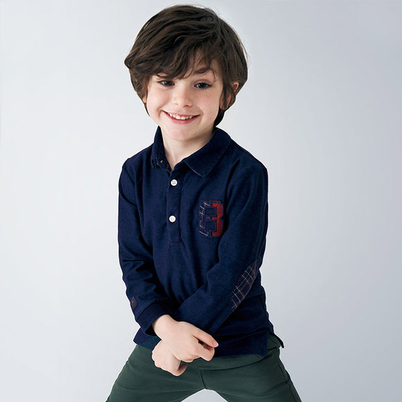 Long sleeved denim polo shirt for boy (mayoral)