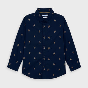 Long sleeved patterned shirt for boy (mayoral)