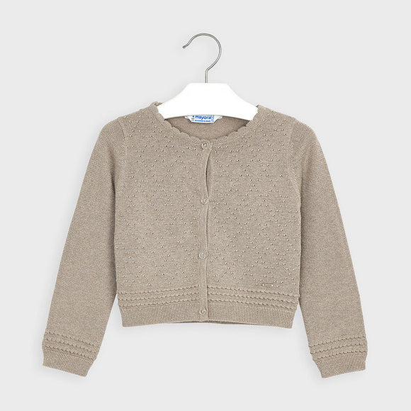 Structured knit cardigan for girl    (mayoral)