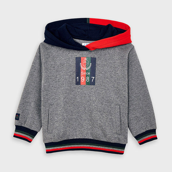 Two-tone hooded sweatshirt for boy (mayoral)