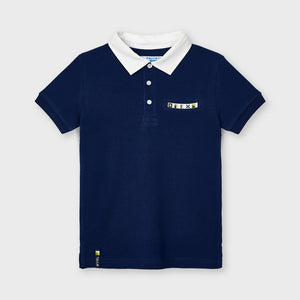 Short sleeved appliqué polo for boy (mayoral)