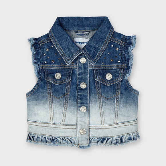 Denim waistcoat for girl (mayoral)