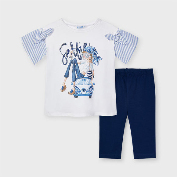 Set of leggings and selfie t-shirt for girl  (mayoral)