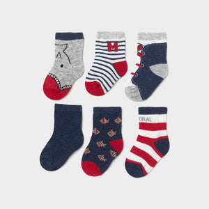 Set of 6 newborn socks boy  (mayoral)