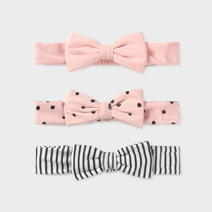 Set of 3 newborn girl's headbands (mayoral)
