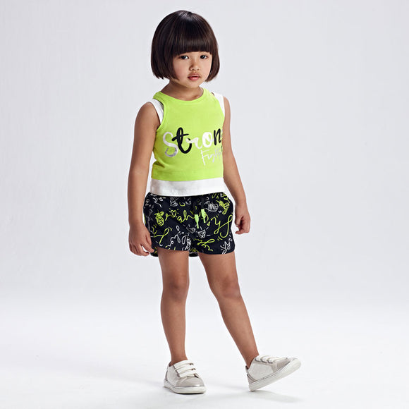 Print shorts set with shirt for girl (Mayoral)