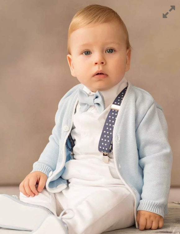 Baby Boy Christening Occasion Wear Set Outfit Frederick with Cardigan