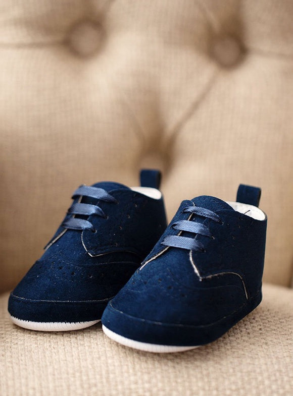 BABY BOY NAVY BOOTIES SHOES