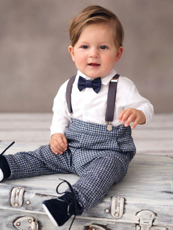 Baby boy occasion wear wedding christening set outfit