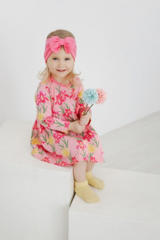 pink Cotton headband Fairy  (can go)