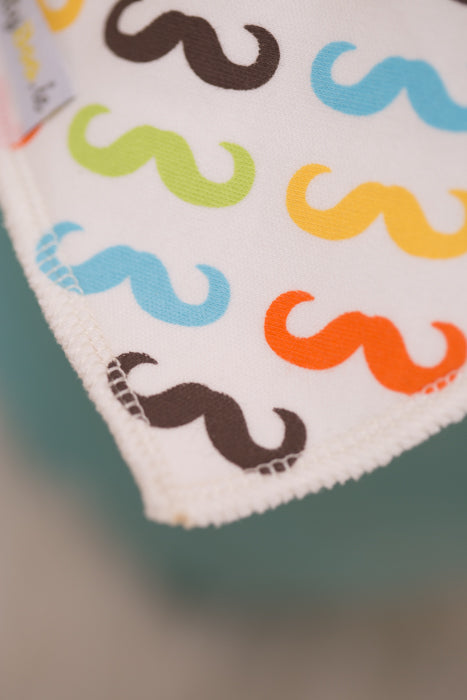 """THE MO"" ORGANIC COTTON DRIBBLEBOO BANDANA BIB"