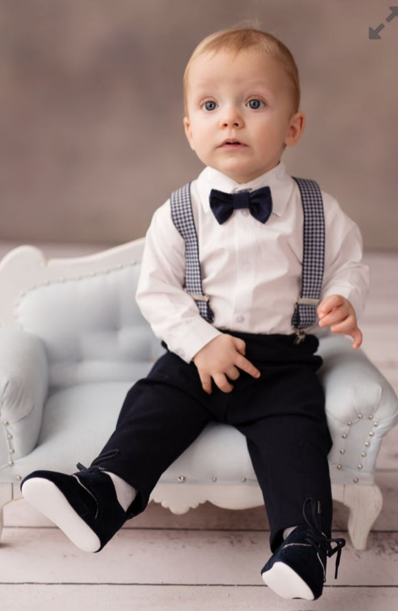 Boys Navy Outfit Christening Wedding Occasion Wear