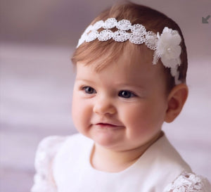 Christening headband Liliana