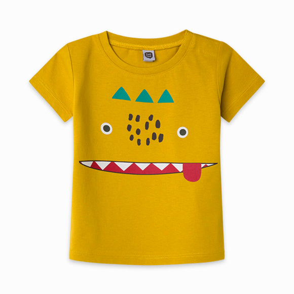 GREEN LITTLE FACE JERSEY T-SHIRT FOR BOYS ZANZIBAR    (tuc tuc)