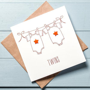 Twin Baby Card