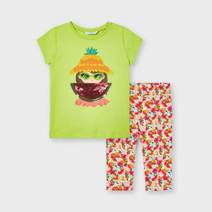 ECOFRIENDS print leggings set for girl (mayoral)
