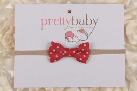 Red Polka Bow Headband