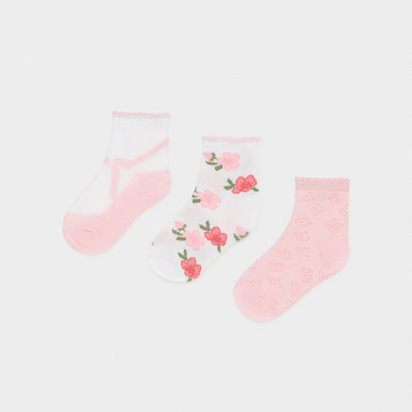 Set of 3 socks baby girl  (mayoral)