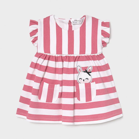 Striped knit dress for newborn girl (mayoral)