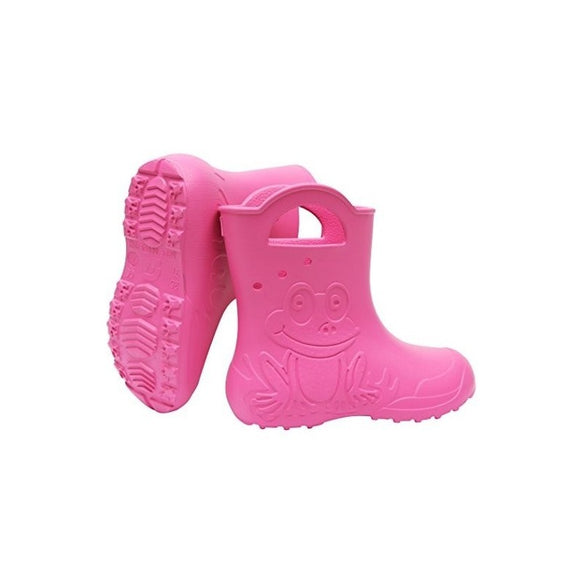 Lightweight rainboots wellies frog PINK