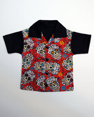 Sugar Skull Lounge Shirt (red)