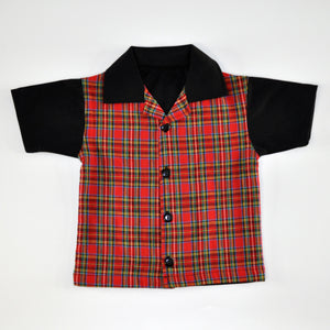 Red Plaid Lounge Shirt