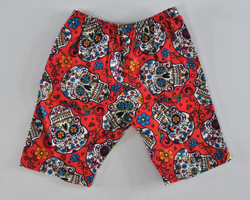 Sugar Skull Chino Short (red)