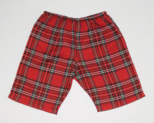 Red Plaid Chino Short